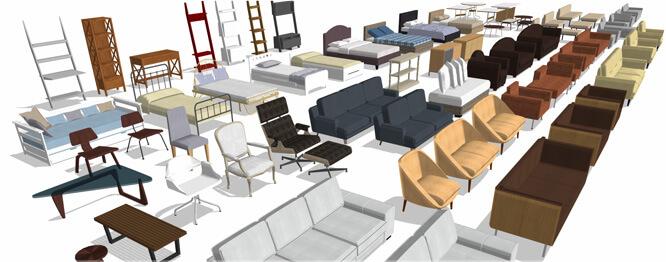 Layouts von Innenräumen und Außenbereichen