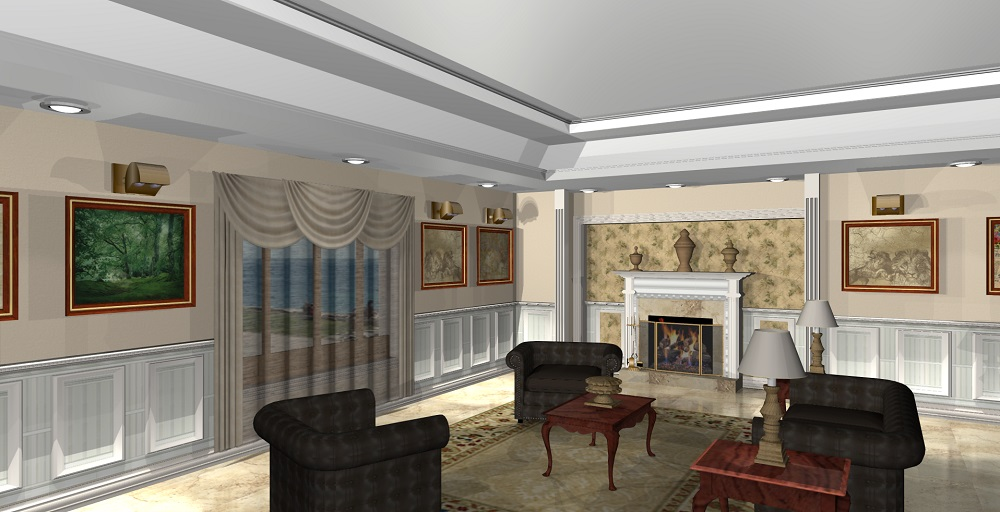rendering Living Room Formal