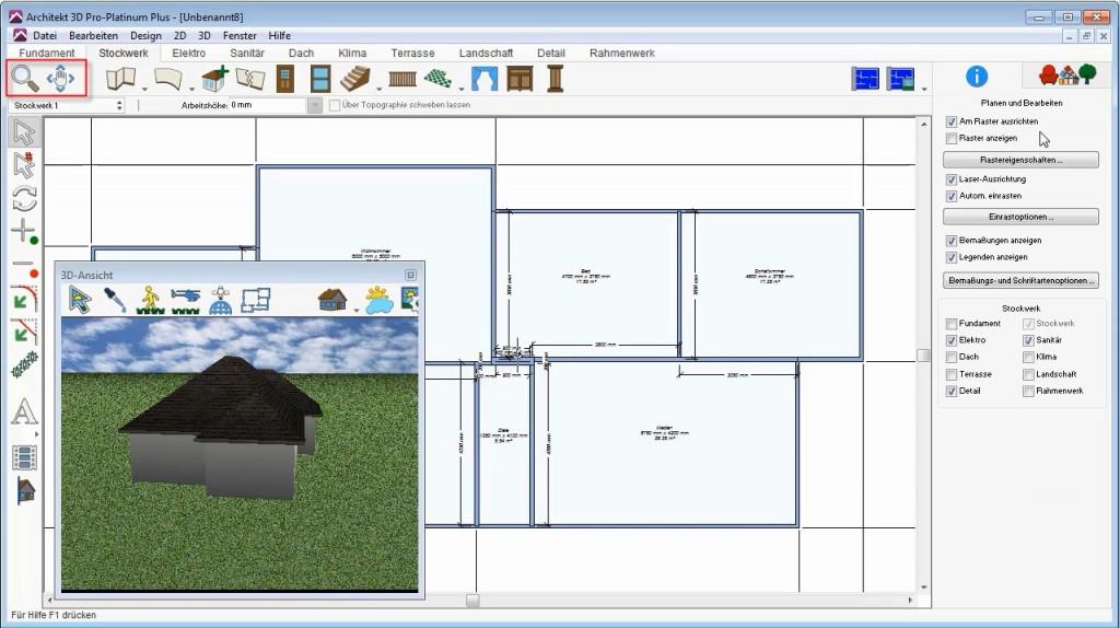 2D Navigation Architekt 3D